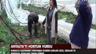 Antalya'yı hortum vurdu