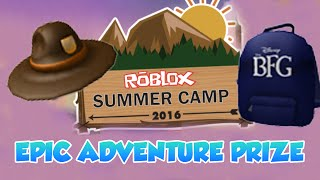 How to get the BFG Summer Camp prizes from Epic Adventure (ROBLOX)