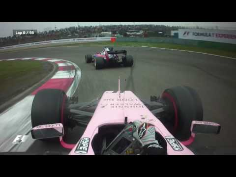 Best Onboards 2017: Sergio Perez's Double Overtake   Chinese Grand Prix