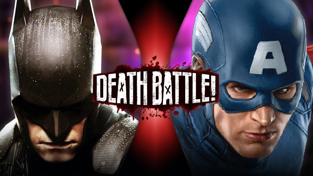 batman vs captain america dc vs marvel death battle youtube
