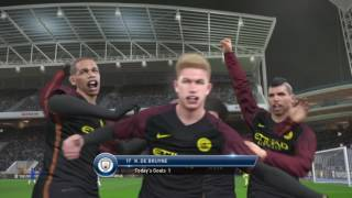 De Bruyne screamer! PES 2017