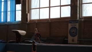 Опорный прыжок, 1 юношеский разряд, Верзилова Милана 7 лет