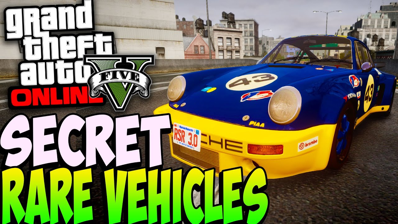 Gta 5 Online Rare Secret Cars Online 1 24 1 26 Secret Rare