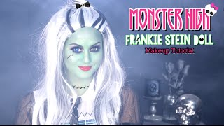Monster High Frankie Stein Makeup Tutorial with Charismastar l Christen Dominique