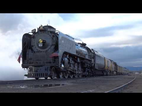 Union Pacific 844 Departs Pocatello, Idaho