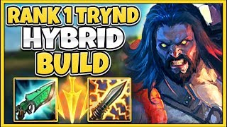 WTF!? THIS HYBRID TRYNDAMERE DAMAGE IS ACTUALLY CRAZY! (INSANE NEW BUILD) - League of Legends