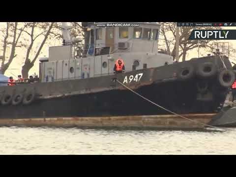 Россия передала Украине корабли, задержанные в Керченском проливе 18.11.2019