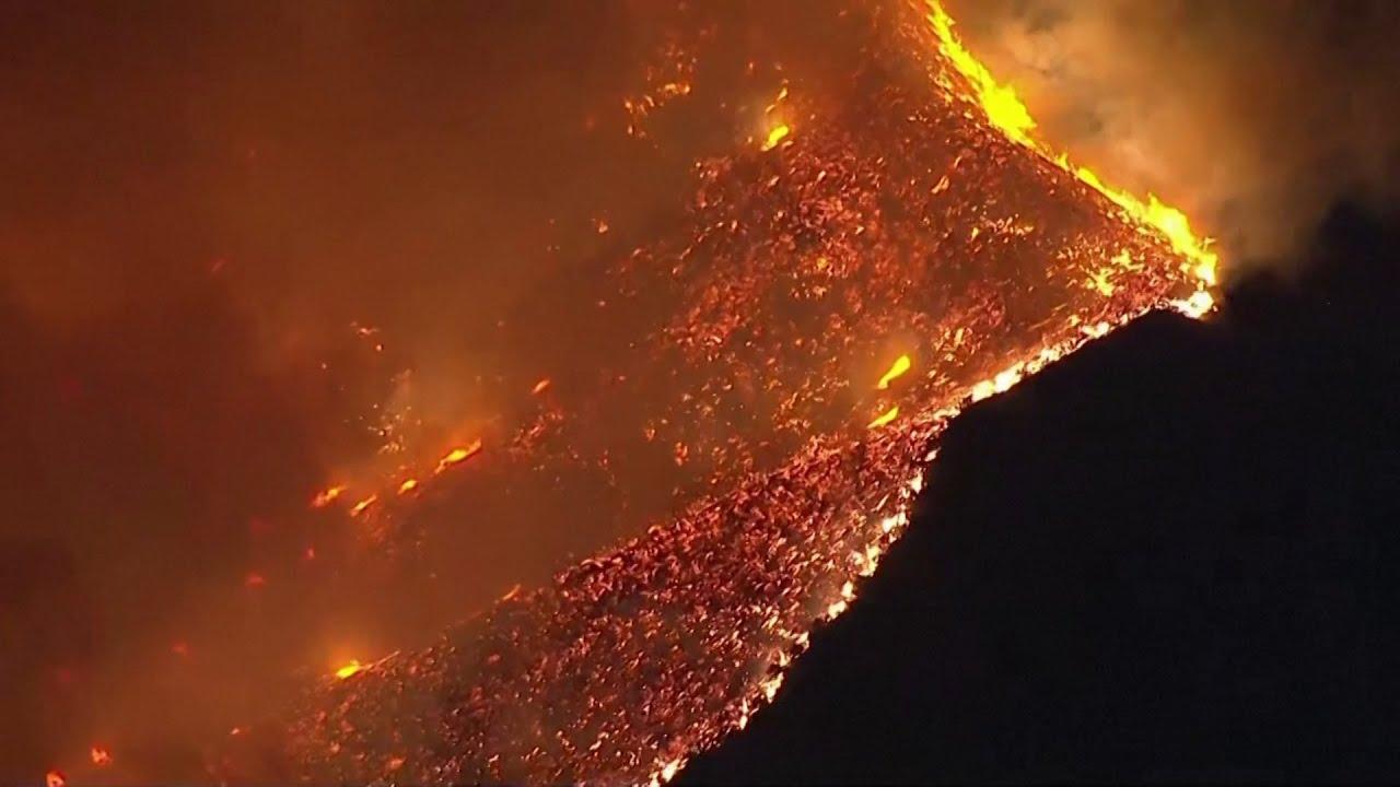 Incredible Footage of Devastating Wildfires in California