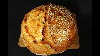 КУКУРУЗНЫЙ ХЛЕБ с курагой и шафраном на опаре пулиш / Рецепт домашнего хлеба из кукурузной муки