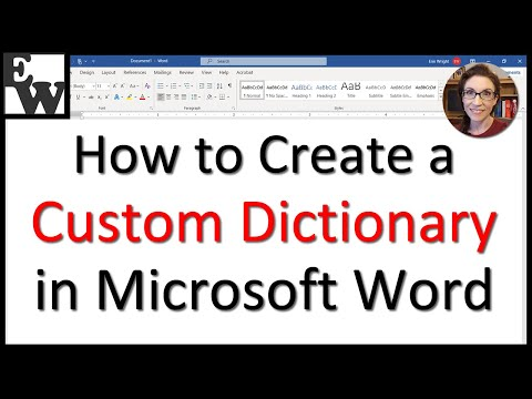 How To Create A Custom Dictionary In Microsoft Word
