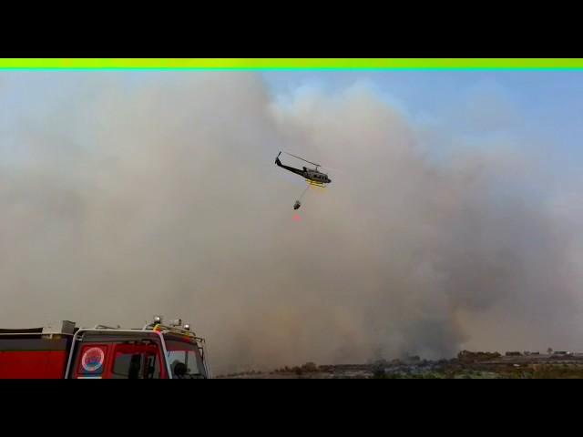 Labores de extinción del martes en el incendio de Aldeadávila de la Ribera