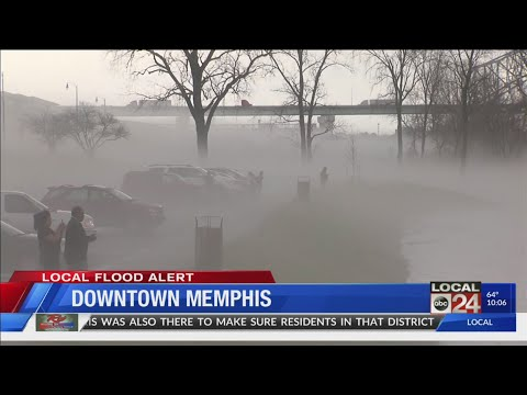 Flooding Coverage In Downtown Memphis