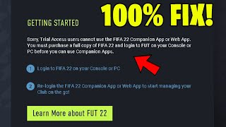 How To Fix Trial Access Users Cannot Use The FIFA 22 Web App! (FIFA 22 Web App Fix) screenshot 2