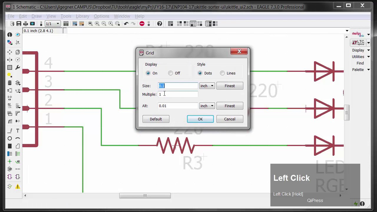 hight resolution of cadsoft eagle creating a schematic simple switch led board