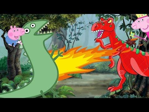 Dinossauro Desenho Infantil Luta De Dinossauros Rex E Senhor