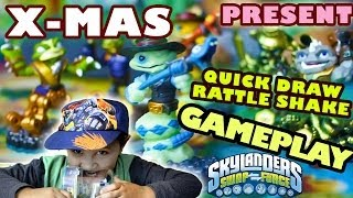 Quick Draw Rattle Shake Christmas Present - Gameplay & Unboxing (Skylanders Swap Force / Frito Lay)