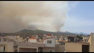 שריפות שריפה יוון אתונה