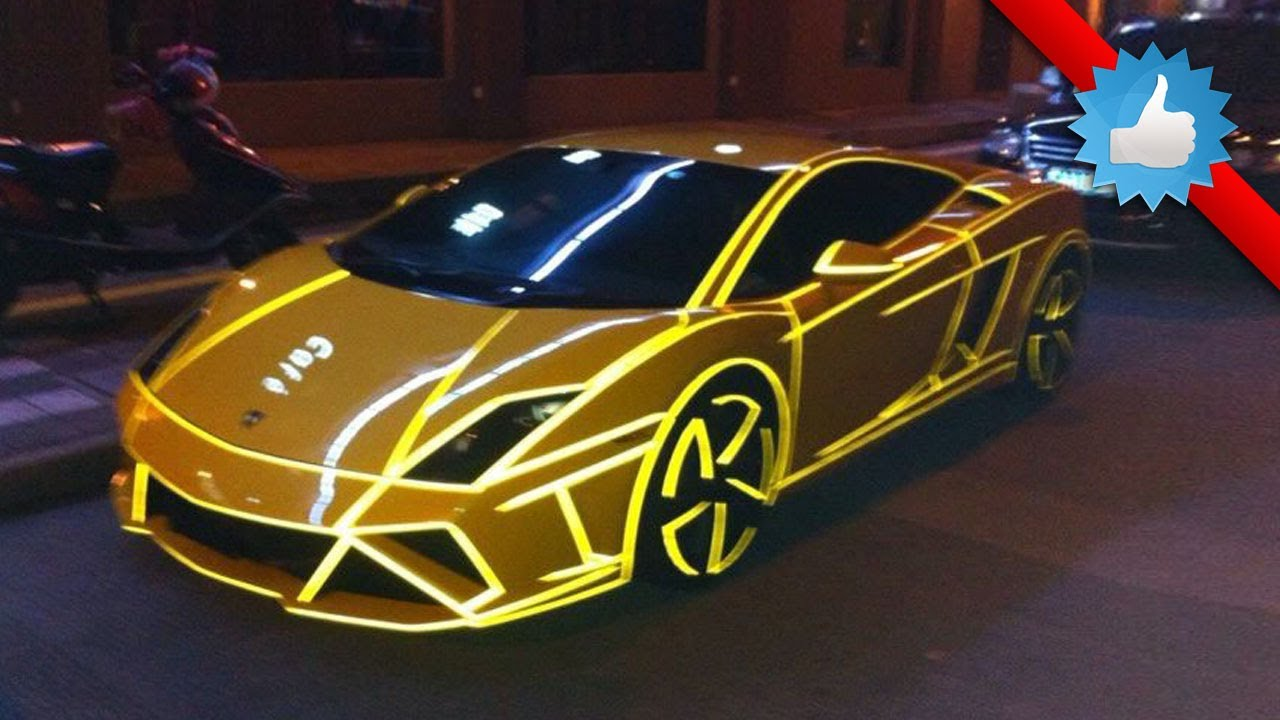 Tron Style Lamborghini Gallardo Lp560 4 China Youtube