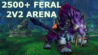 2500+ 2v2 Arena  - Feral Druid PvP - WoW BFA 8.2.5