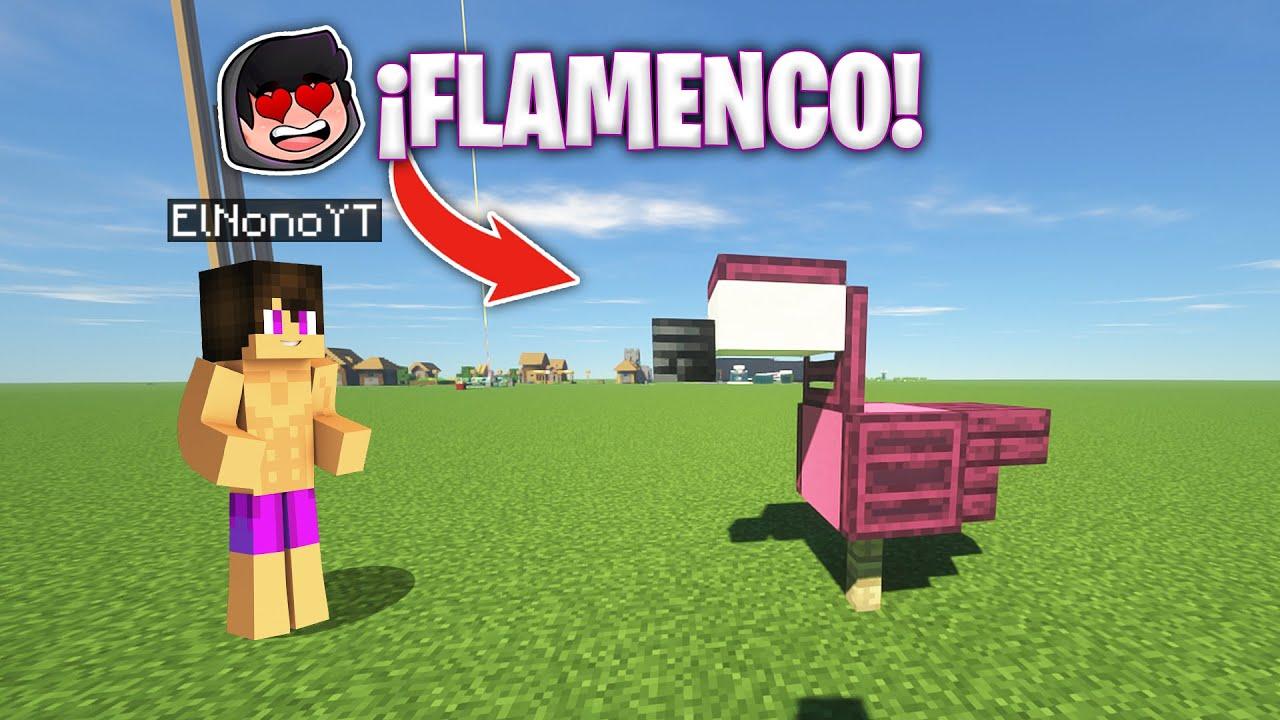 ¡CÓMO HACER un FLAMENCO en MINECRAFT! 😱😍 Tutorial Flamingo Minecraft Zoo Aleatorio #Cortos #Shorts