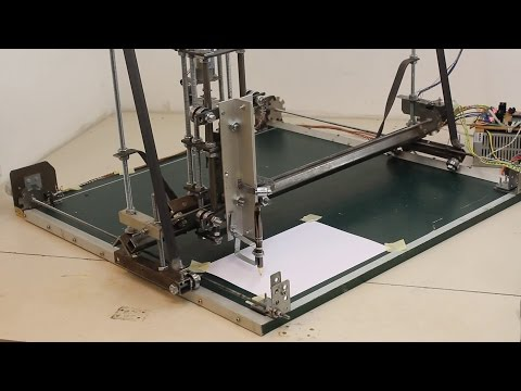 Homemade CNC Machine With Materials From A DIY, Built With Simple Tools