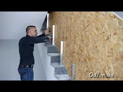 Стеклянное ограждение лестницы (перила из стекла)