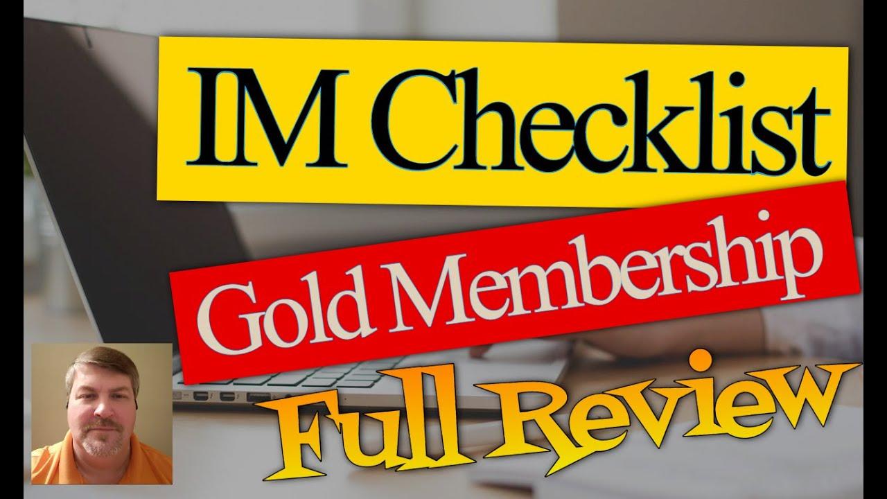 IM Checklist Gold Edition Review ...