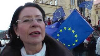 Miroslava Němcová k inauguraci presidenta Zemana