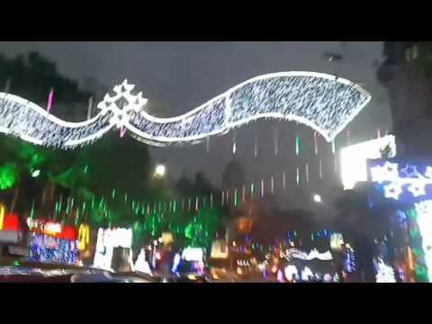 Park Street Kolkata During Christmas.Park Street Kolkata Christmas Festival 2016