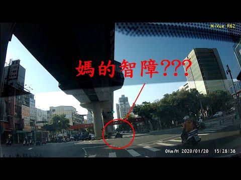 台中市文心路四段 機車闖紅燈