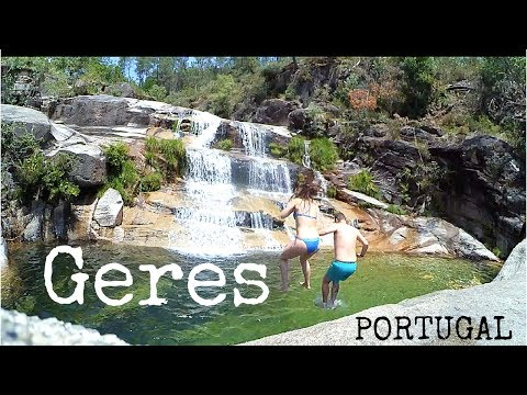 Geres national park  Portugal  Camping and abseiling in waterfall