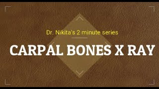 Carpal bones ossification
