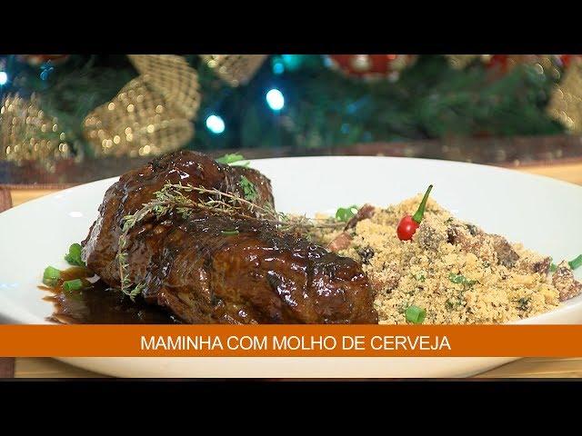 MAMINHA COM MOLHO DE CERVEJA
