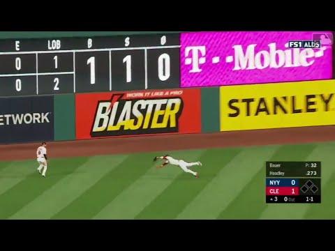 Jason Kipnis Diving Catch vs Yankees   Indians vs Yankees Game 1 ALDS