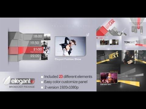Elegant TV Broadcast Package - After Effects Template | VideoHive Templates  | Mso7