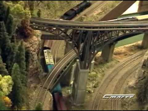 HO Scale model train layout of Pacific Northwest and Logging Industry