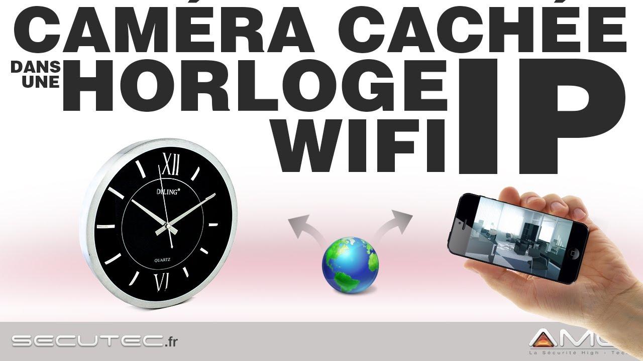 camera cach e ip wifi dans une horloge secutec fr youtube. Black Bedroom Furniture Sets. Home Design Ideas
