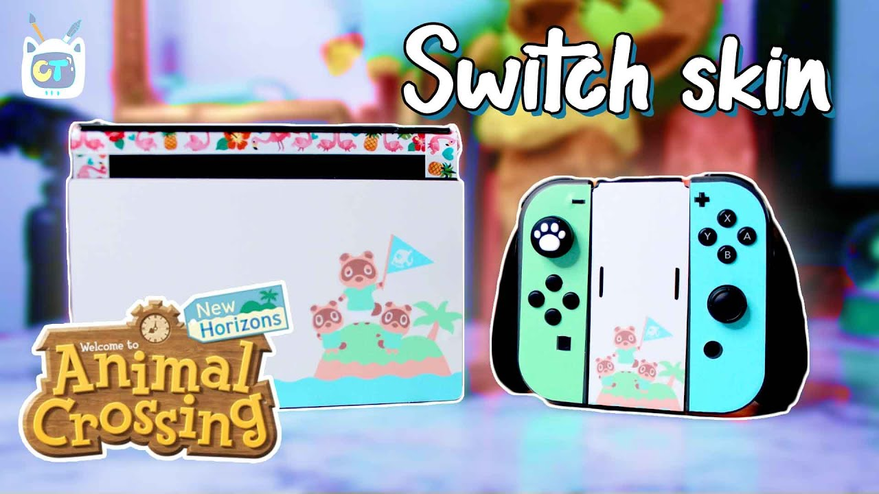 Nintendo Switch Animal Crossing New Horizons Decal Skin Set Only