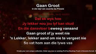 Gaan Groot - ProTrax Karaoke Demo