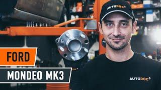 Como mudar Kit rolamento roda FORD MONDEO III Saloon (B4Y) - vídeo grátis online