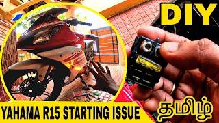 ✨Yamaha R15 v2 Sęlf Starting Issue ❌😓 Diy    Custom Indicator Installation 💥💥