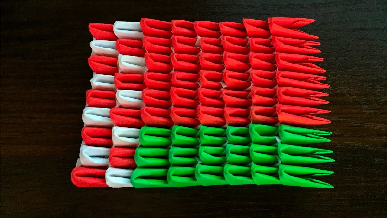 модульное оригами схема сборки двуглавого орла