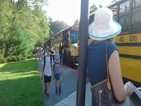 First day of classes at Chickering Elementary School, Dover
