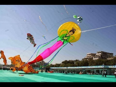Live International Kite Festival Uttarayan 2018