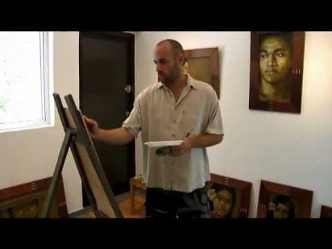 Olivier Louzé artiste peintre Moorea Tahiti
