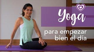 Yoga para empezar bien el día