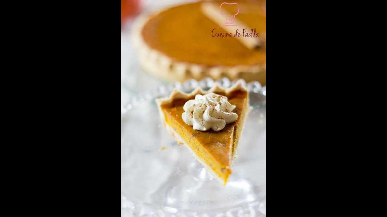 Recette de tarte sucr e au potimarron pumpkin pie for Cuisine youtube