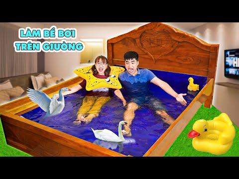 Chế Tạo Bể Bơi Trên Giường Ngủ Và Tắm Cùng Vịt Của Hà Sam