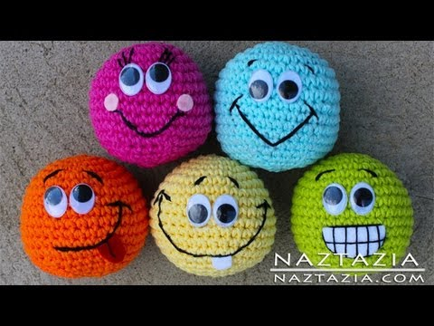 Learn How To Crochet Basic Beginner Amigurumi Smiley Face Hacky