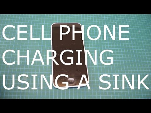 Charging a Cell Phone Using a Sink: Micro hydro electric generator